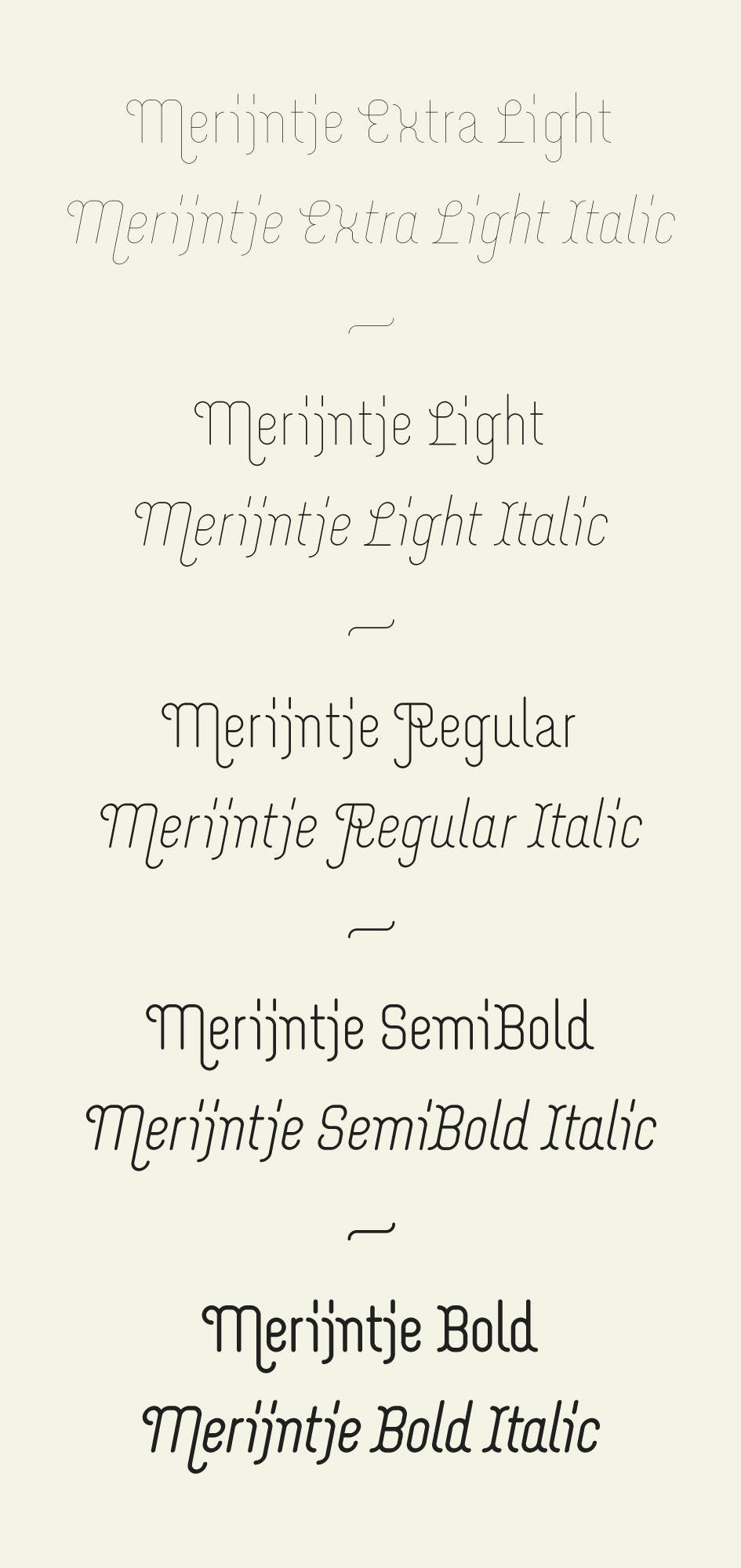 Custom designed fonts